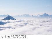 Купить «Облака в горах», фото № 4734738, снято 7 мая 2013 г. (c) Дмитрий Шульгин / Фотобанк Лори
