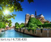 Купить «Собор Нотр-Дам де Пари, Париж, Франция», фото № 4738430, снято 17 июня 2012 г. (c) Iakov Kalinin / Фотобанк Лори