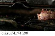 Купить «Мясо на гриле крупным планом», видеоролик № 4741590, снято 14 апреля 2013 г. (c) Данил Руденко / Фотобанк Лори