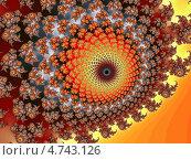 Купить «Фрактальный орнаментальный фон», иллюстрация № 4743126 (c) Astronira / Фотобанк Лори