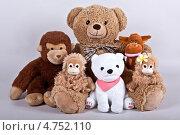 Купить «Плюшевая семья», фото № 4752110, снято 14 июня 2013 г. (c) Элина Гаревская / Фотобанк Лори