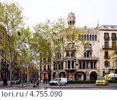 Купить «Дом Лео Морера (Casa Lleo Morera). Барселона», фото № 4755090, снято 8 апреля 2013 г. (c) Яков Филимонов / Фотобанк Лори