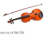 Купить «Старинная скрипка и смычок», фото № 4756778, снято 23 декабря 2012 г. (c) Андрей Попов / Фотобанк Лори