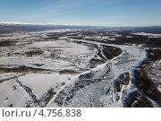 Река Камчатка. Вид из окна вертолета (2013 год). Стоковое фото, фотограф А. А. Пирагис / Фотобанк Лори