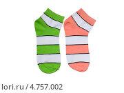 Купить «Разноцветные полосатые носки», фото № 4757002, снято 16 июня 2013 г. (c) Инна Грязнова / Фотобанк Лори