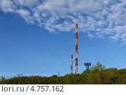 Купить «Вышки с антеннами связи», эксклюзивное фото № 4757162, снято 16 июня 2013 г. (c) А. А. Пирагис / Фотобанк Лори