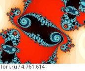 Купить «Разноцветный орнаментальный фрактал со спиралями», иллюстрация № 4761614 (c) Astronira / Фотобанк Лори