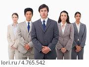 Купить «Молодые уверенные бизнесмены, белый фон», фото № 4765542, снято 8 ноября 2011 г. (c) Wavebreak Media / Фотобанк Лори