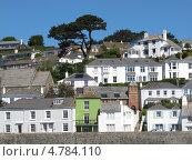 Дома на побережье, Англия, графство Корнуолл, (Cornwall, UK) (2013 год). Стоковое фото, фотограф Гурова Анна / Фотобанк Лори