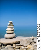 Купить «Пирамидка из камней на фоне неба», фото № 4787002, снято 12 июня 2013 г. (c) Типляшина Евгения / Фотобанк Лори