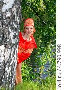 Купить «Девушка в русском народном костюме», фото № 4790998, снято 23 июня 2013 г. (c) ElenArt / Фотобанк Лори