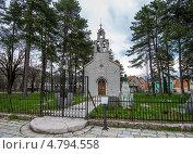 Купить «Город Цетине, церковь Влашка (Vlaška)», фото № 4794558, снято 7 апреля 2013 г. (c) Геннадий Соловьев / Фотобанк Лори