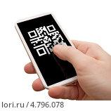 QR код на смартфоне. Стоковое фото, фотограф Jan Mikš / Фотобанк Лори