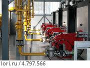 Купить «Современная газовая котельная», фото № 4797566, снято 20 февраля 2013 г. (c) Марюнин Юрий / Фотобанк Лори