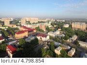 Подольск, панорама летнего города (2013 год). Редакционное фото, фотограф Дмитрий Неумоин / Фотобанк Лори