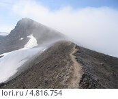 Купить «Камчатка. Тропинка на вершине вулкана.», фото № 4816754, снято 3 августа 2007 г. (c) Евгений Осадчий / Фотобанк Лори