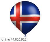 Купить «Воздушный шарик с изображением флага Исландии», иллюстрация № 4820926 (c) Клинц Алексей / Фотобанк Лори