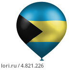 Купить «Воздушный шарик с изображением флага Багамских островов», иллюстрация № 4821226 (c) Клинц Алексей / Фотобанк Лори