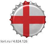 Купить «Металлическая пробка с флагом Англии», иллюстрация № 4824126 (c) Клинц Алексей / Фотобанк Лори