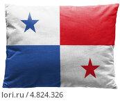 Купить «Изображенный на подушке флаг Панамской республики», фото № 4824326, снято 18 февраля 2020 г. (c) Клинц Алексей / Фотобанк Лори