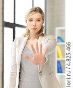 Купить «Уставшая деловая женщина за работой в офисе», фото № 4825466, снято 17 июня 2012 г. (c) Syda Productions / Фотобанк Лори