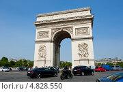 Купить «Триумфальная арка. Париж. Франция», фото № 4828550, снято 26 июня 2013 г. (c) Екатерина Овсянникова / Фотобанк Лори