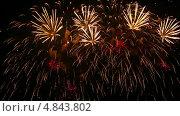 Купить «Праздничный фейерверк», видеоролик № 4843802, снято 3 июля 2013 г. (c) Игорь Жоров / Фотобанк Лори