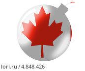 Купить «Флаг Канады, изображенный в виде иконки-бомбы», иллюстрация № 4848426 (c) Клинц Алексей / Фотобанк Лори