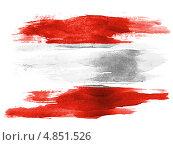Купить «Нарисованный акварелью флаг государства Австрия», иллюстрация № 4851526 (c) Клинц Алексей / Фотобанк Лори