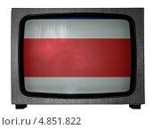 Купить «Флаг Коста-Рики на экране старого телевизора», иллюстрация № 4851822 (c) Клинц Алексей / Фотобанк Лори