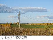 Осень в сельской местности на Среднем Урале. Стоковое фото, фотограф Елена Ермоленко / Фотобанк Лори