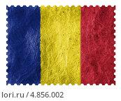 Купить «Флаг Румынии на бумажной почтовой марке», иллюстрация № 4856002 (c) Клинц Алексей / Фотобанк Лори