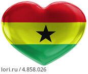 Купить «Флаг Ганы на блестящем сердце», иллюстрация № 4858026 (c) Клинц Алексей / Фотобанк Лори