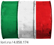 Купить «Флаг Италии, изображенный на металлической бочке», иллюстрация № 4858174 (c) Клинц Алексей / Фотобанк Лори
