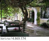 Традиционное греческое кафе, Корфу, Греция. Стоковое фото, фотограф Николаева Наталья / Фотобанк Лори