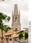 Колокольня Кафедрального собора. Жирона, Испания (2013 год). Стоковое фото, фотограф Марат Сабиров / Фотобанк Лори