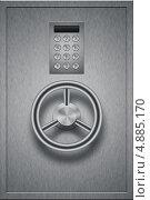 Купить «Стальная банковская дверь», иллюстрация № 4885170 (c) Владимир Красюк / Фотобанк Лори