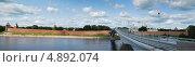 Купить «Город Великий Новгород в летний день. Вид на стены кремля. Панорама», фото № 4892074, снято 10 июля 2013 г. (c) Тавруева Надежда / Фотобанк Лори
