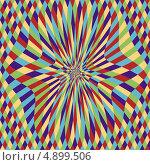 Мистический алмазный диск с иллюзией движения. Стоковая иллюстрация, иллюстратор Marina Shipilova / Фотобанк Лори