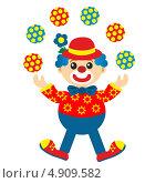 Купить «Клоун-жонглёр», иллюстрация № 4909582 (c) ivolodina / Фотобанк Лори