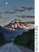 Купить «Дорога на Вилючинский вулкан. Камчатка», фото № 4911982, снято 20 июля 2013 г. (c) А. А. Пирагис / Фотобанк Лори