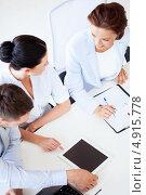 Купить «Топ менеджеры компании на совещании», фото № 4915778, снято 9 июня 2013 г. (c) Syda Productions / Фотобанк Лори