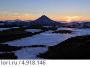 Рассвет в горах. Камчатка (2013 год). Стоковое фото, фотограф А. А. Пирагис / Фотобанк Лори
