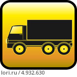 Купить «Жёлтый квадратный знак с чёрным силуэтом грузовика», иллюстрация № 4932630 (c) Александр Галата / Фотобанк Лори