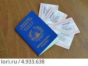 Купить «Паспорт гражданина Таджикистана и патенты для осуществления трудовой деятельности иностранных граждан у физических лиц», фото № 4933638, снято 7 августа 2013 г. (c) Овчинникова Ирина / Фотобанк Лори