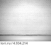 Купить «Пустая стена из белых кирпичей», фото № 4934214, снято 22 января 2018 г. (c) Sergey Nivens / Фотобанк Лори
