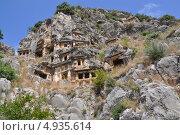 Старинный скальный некрополь в Демре, Турция (2010 год). Стоковое фото, фотограф Овчинникова Татьяна / Фотобанк Лори