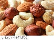 Купить «Смесь орехов для здорового питания», фото № 4941850, снято 26 июня 2013 г. (c) Константин Аникин / Фотобанк Лори