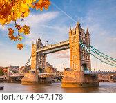 Купить «Тауэрский мост в Лондоне», фото № 4947178, снято 22 ноября 2019 г. (c) Sergey Borisov / Фотобанк Лори
