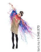 Купить «Актер травести в образе гламурной модницы», фото № 4948870, снято 11 августа 2013 г. (c) Discovod / Фотобанк Лори